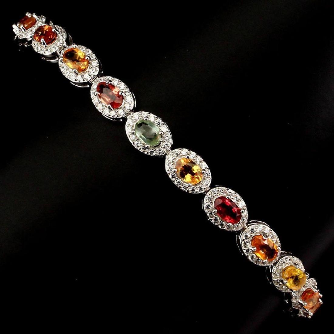 Natural Fancy Multi Color Sapphire Bracelet