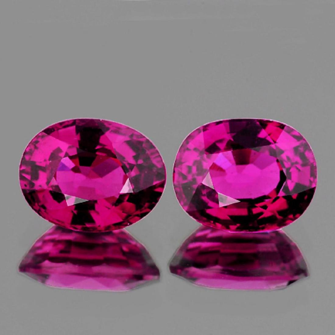 Natural Raspberry Pink Rhodolite Garnet Pair 8x6 MM FL