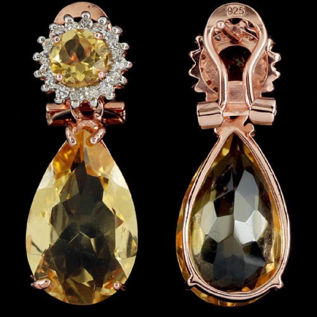 NATURAL ORANGISH YELLOW CITRINE Earrings - 2