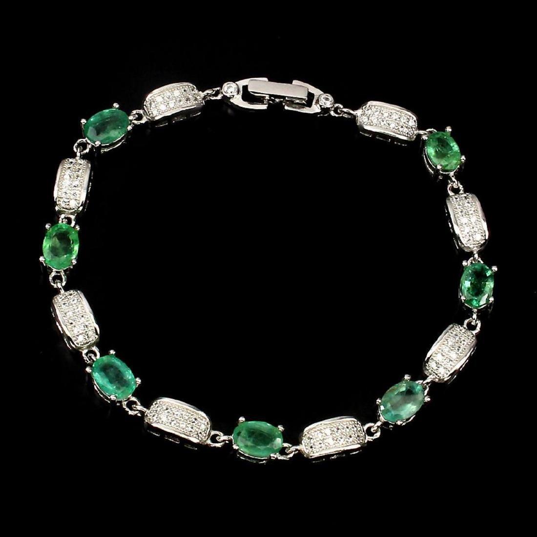 Natural Green Emerald 59 carats Bracelet