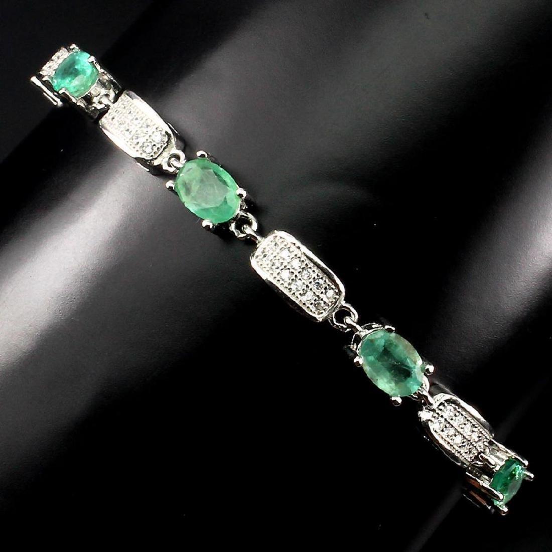 Natural Green Emerald 59 carats Bracelet - 2