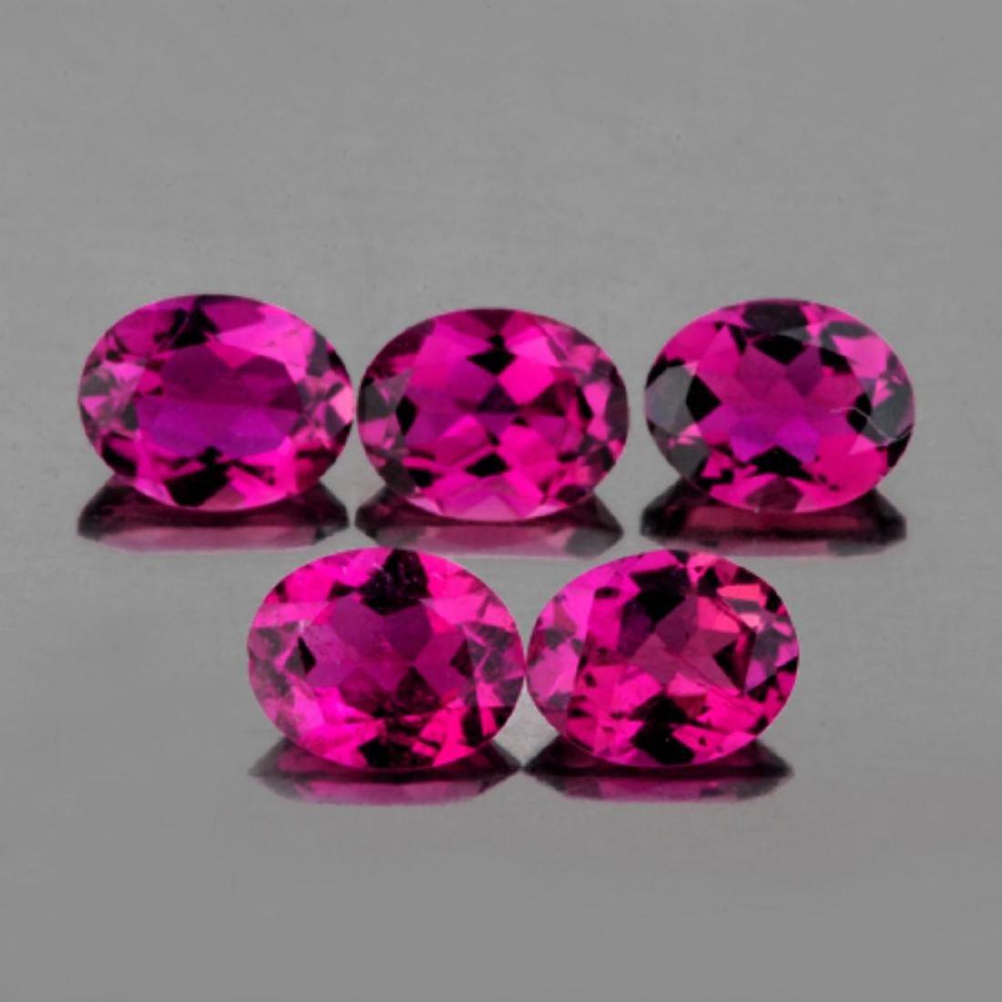 Natural Intense Pink Tourmaline 5x4 MM {Flawless-VVS1}