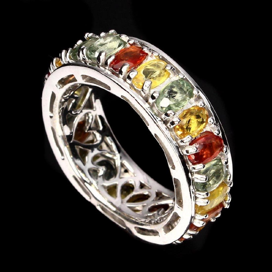 Natural Fancy Color Sapphire Ring - 2