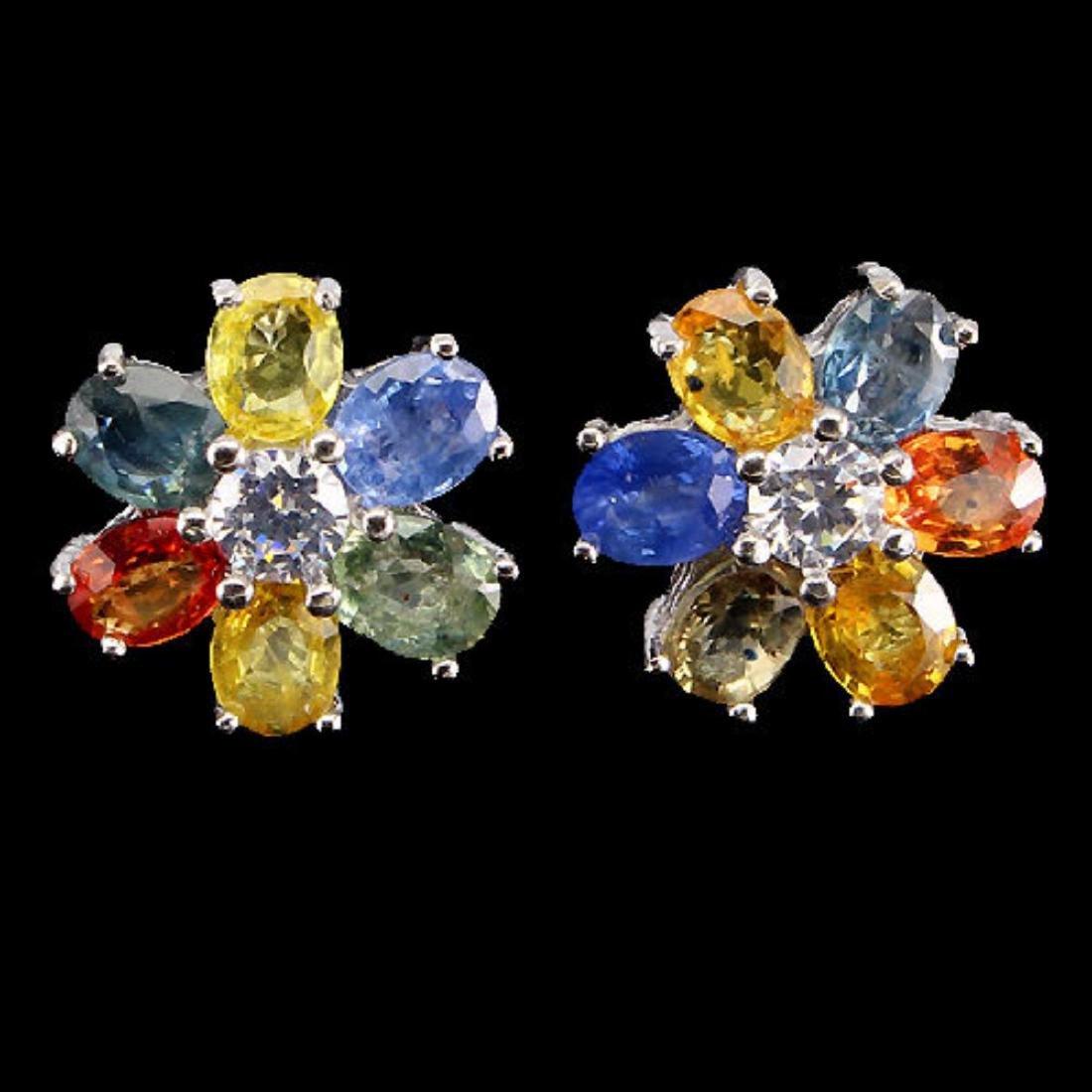 Natural Fancy Sapphire Earrings