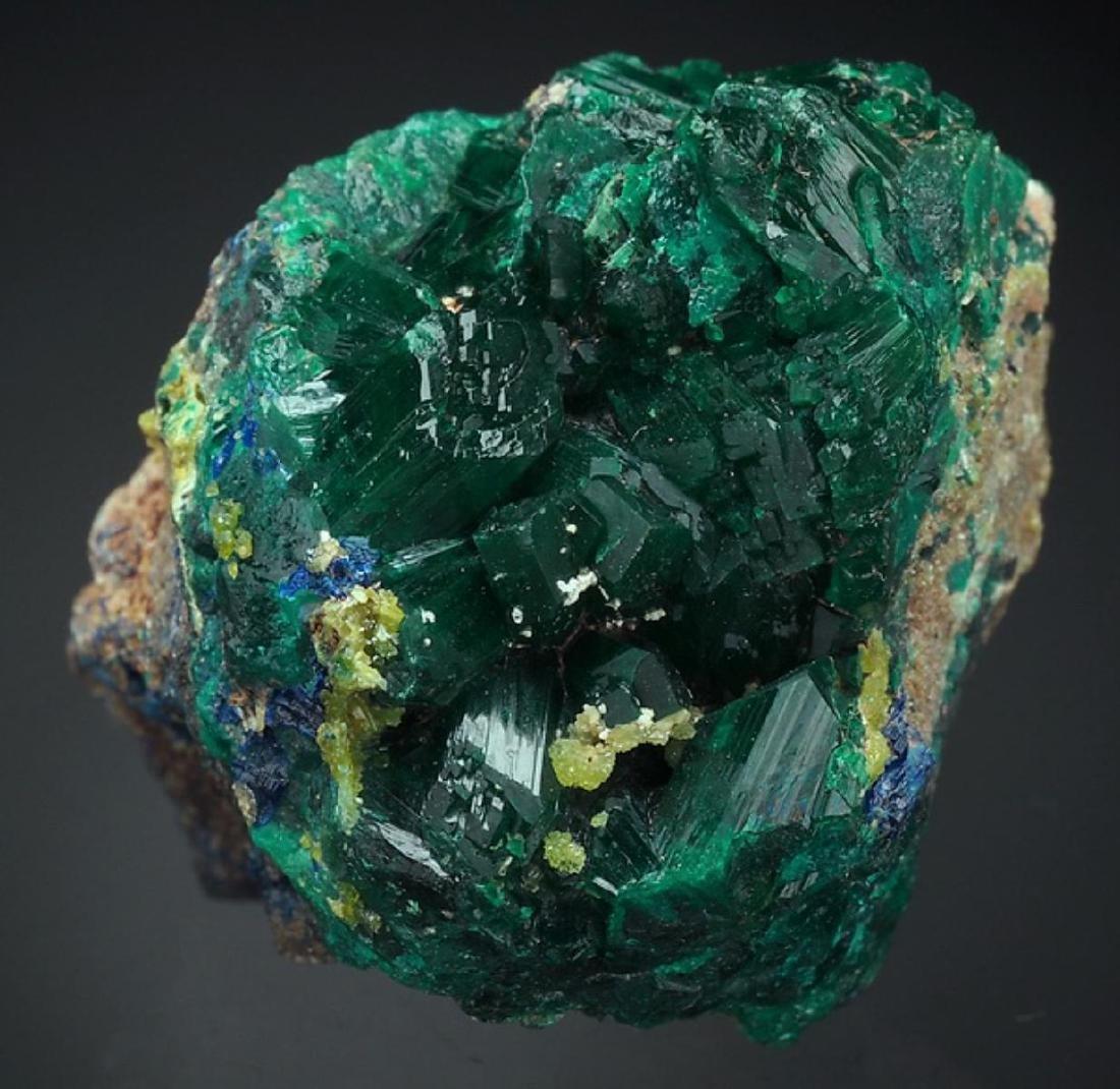 Natural DIOPTASE - RARE crystals Cluster - 4