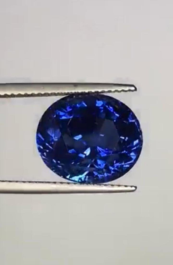 Natural Untreated Royal Blue Sapphire 12.49 Cts - GRS