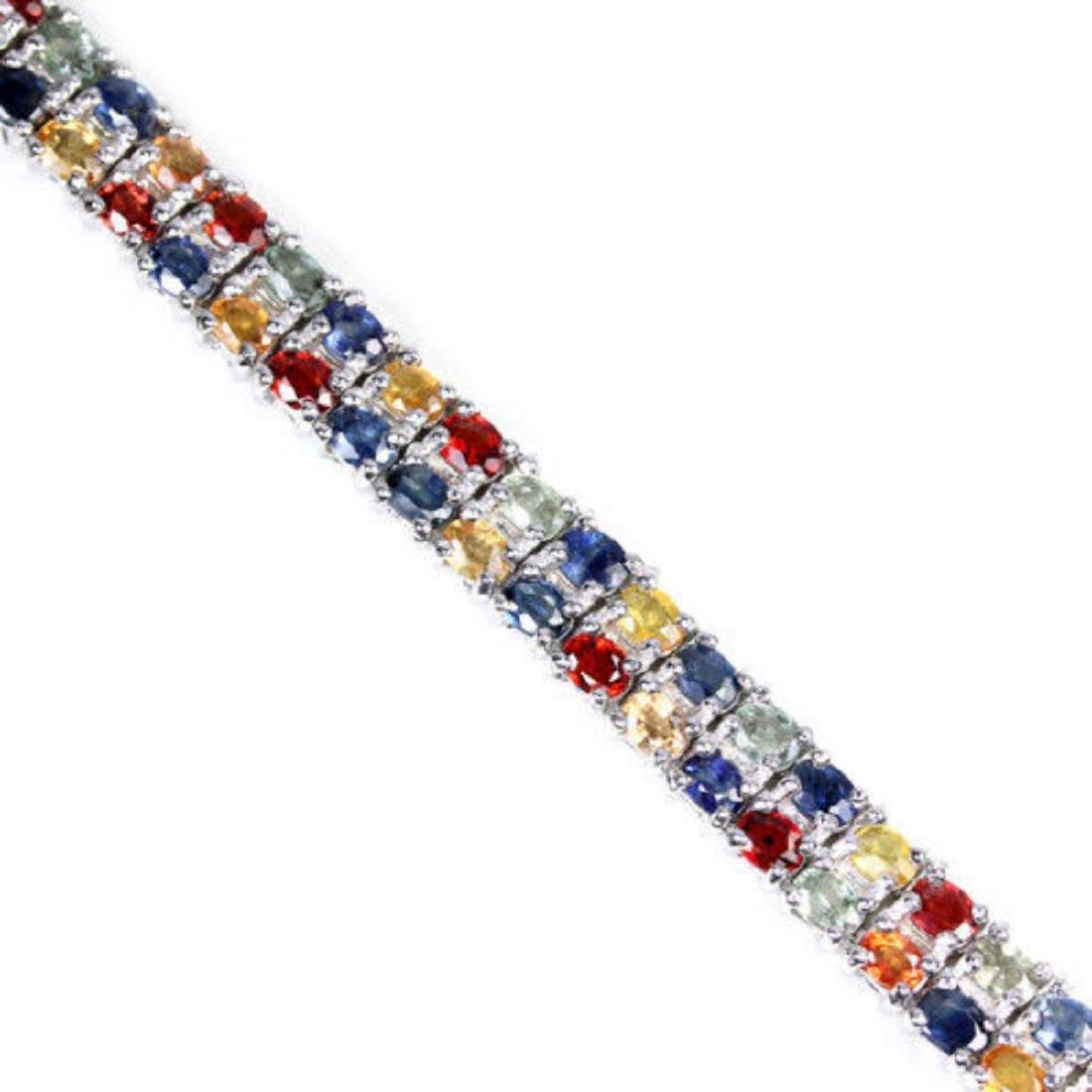 Natural MULTI COLOR  SAPPHIRE 146 Cts Bracelet - 2