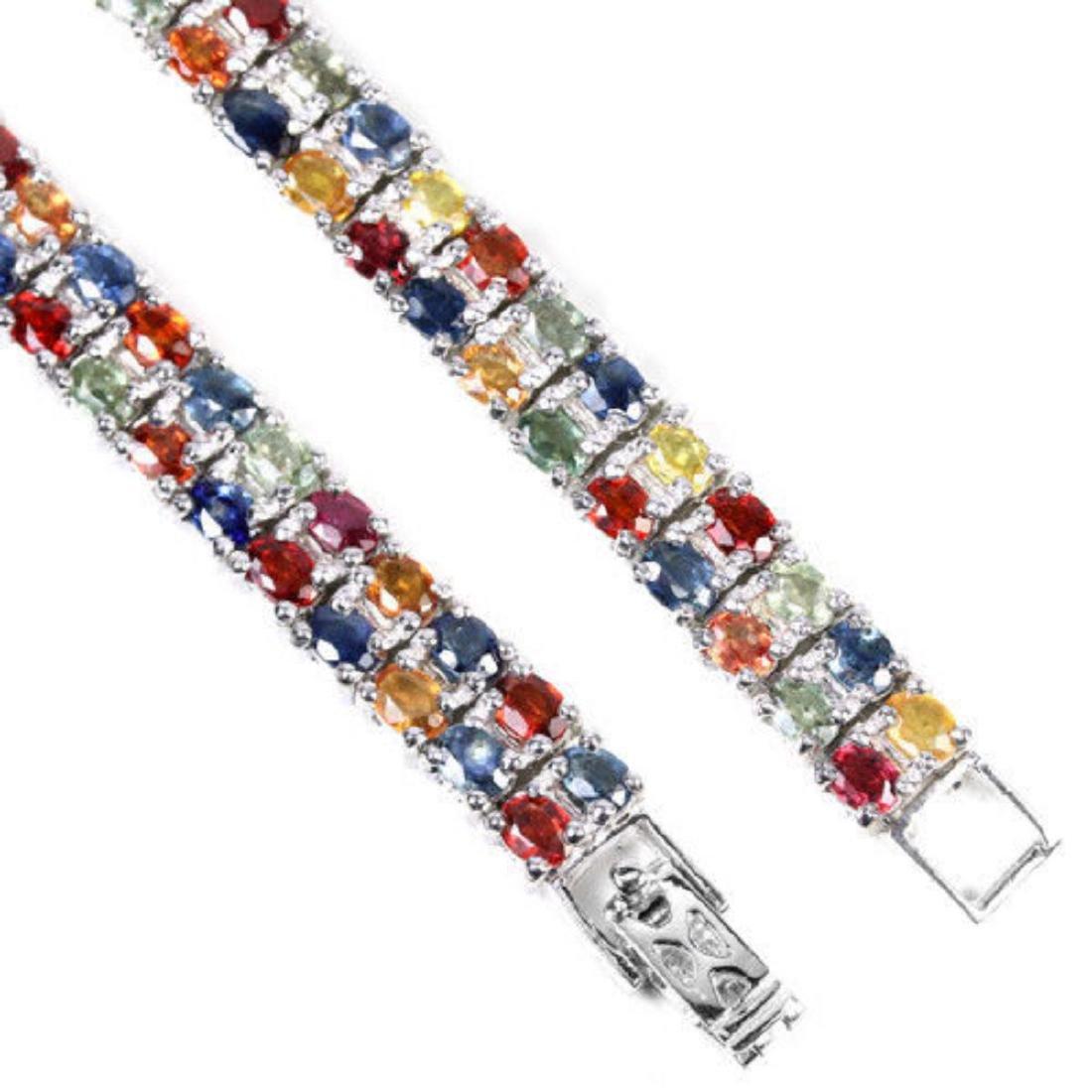 Natural MULTI COLOR  SAPPHIRE 146 Cts Bracelet - 3