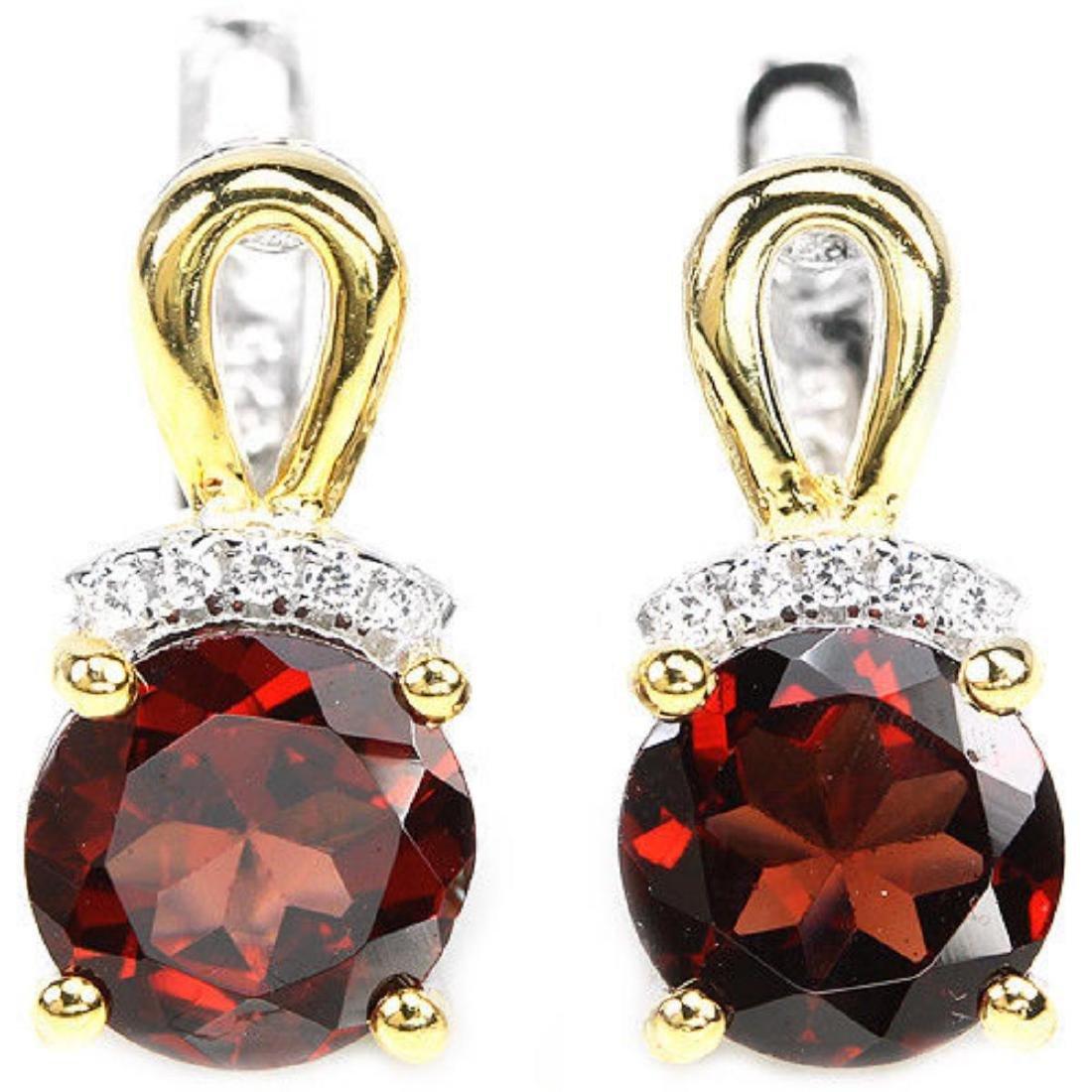 NATURAL DARK RED GARNET Earrings