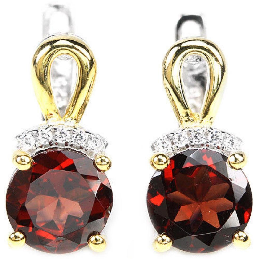 NATURAL DARK RED GARNET Earrings