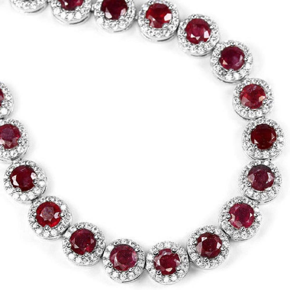 Natural Pigeon Blood Red Ruby Bracelet - 2