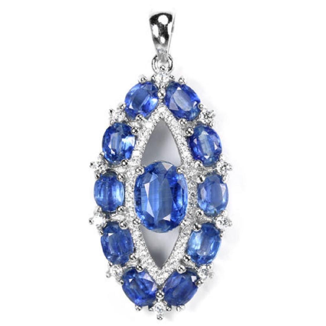 Natural Blue Kyanite Pendant