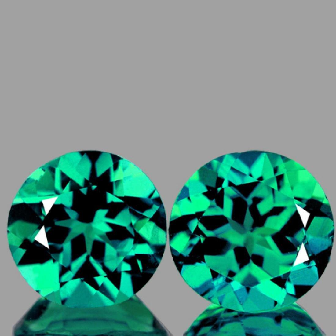 Natural Paraiba Green Apatite Pair 3.27 Cts - VVS