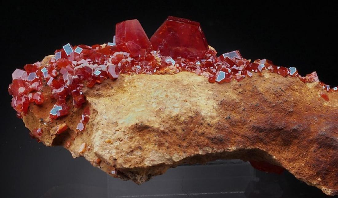 Natural VANADINITE - lustrous Crystals on Matrix - 3