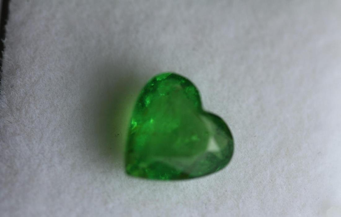 Natural Tsavorite Garnet Heart 2.17 Cts