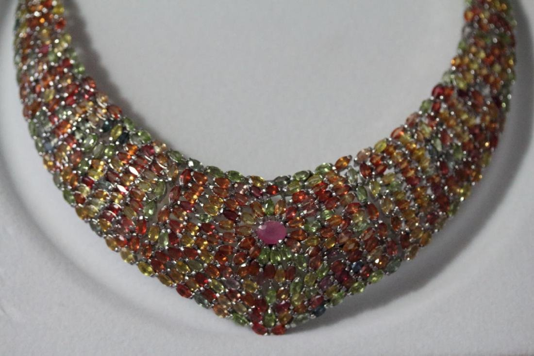 Natural Ruby & Fancy Sapphire 465.25 Carats Necklace - 4
