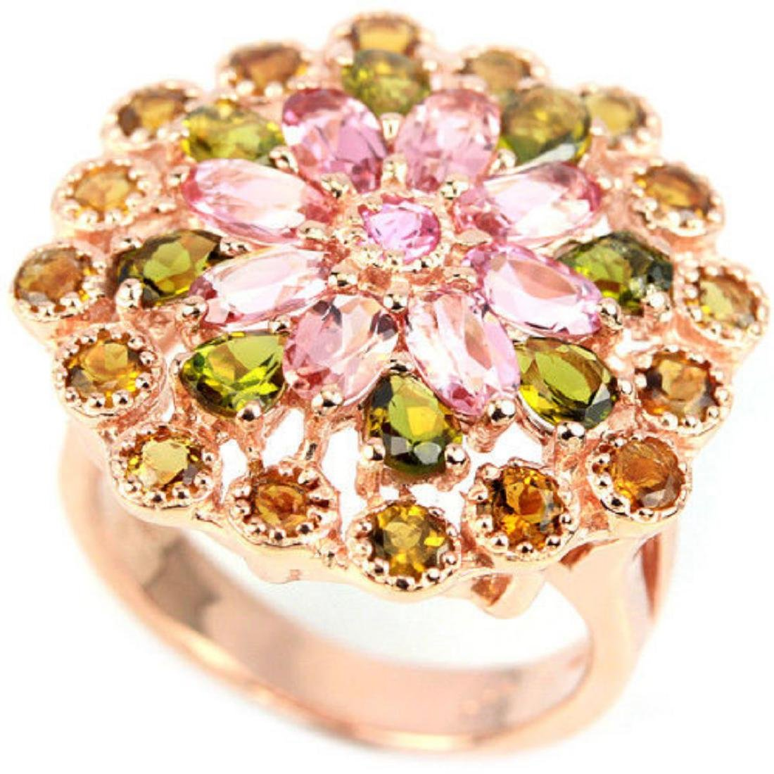 NATURAL MULTI COLOR TOURMALINE Ring - 2