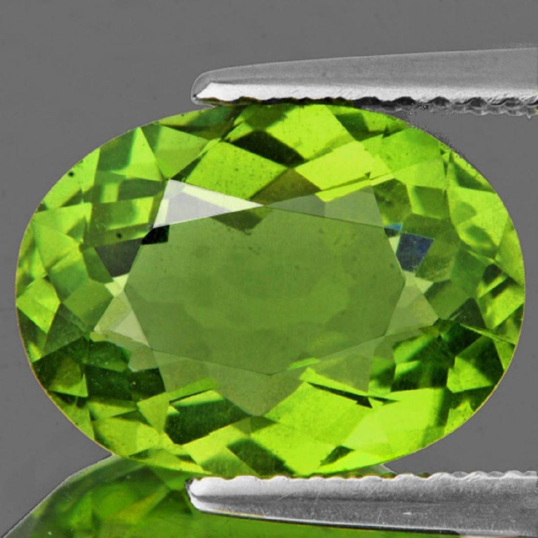 Natural Canary Green Apatite 3.23 Carats(Flawless-VVS1)