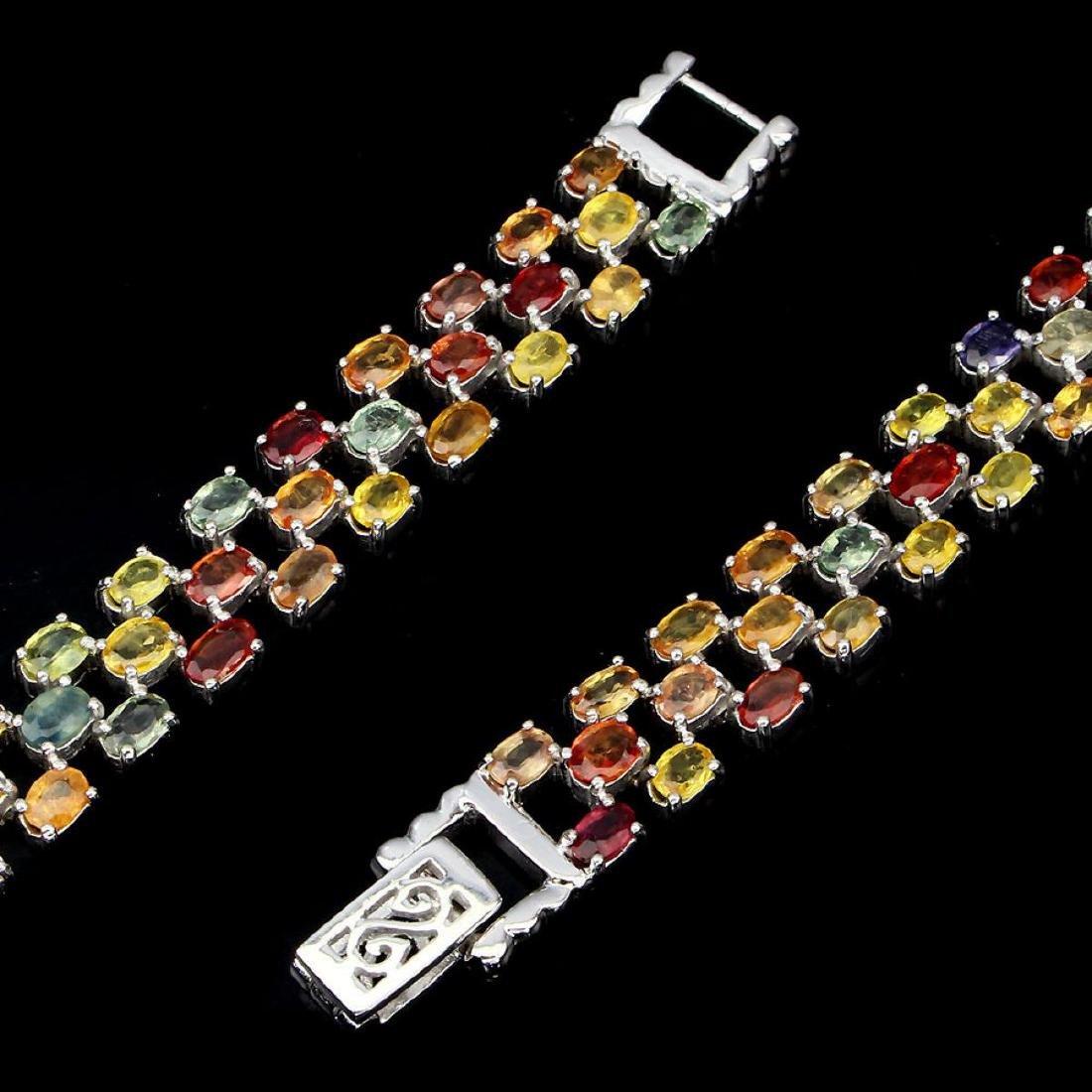 Natural Fancy Sapphire 120 Carats Bracelet - 3