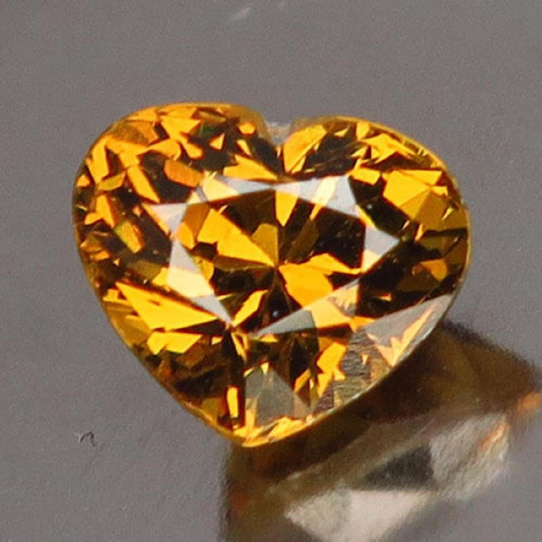 Natural Golden Mali Garnet Heart 1.22 Cts - VVS