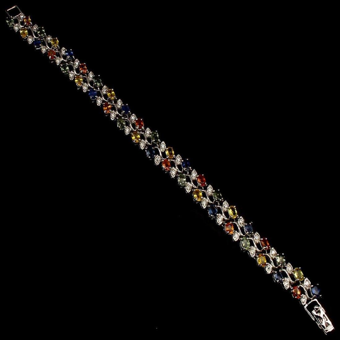 Natural Fancy Sapphire 116 Carats Bracelet - 2