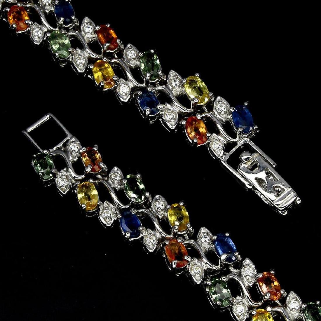 Natural Fancy Sapphire 116 Carats Bracelet - 3