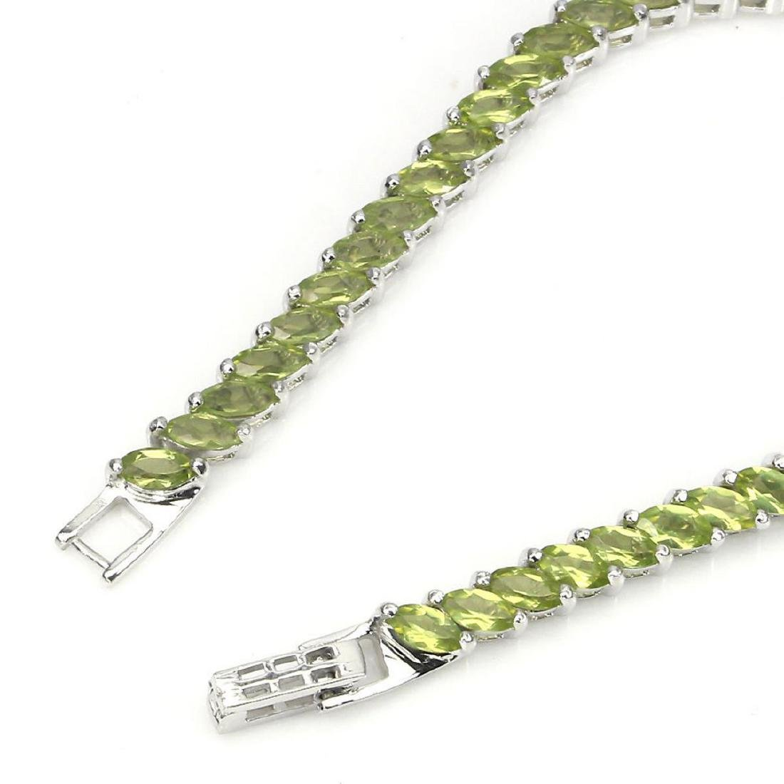 Natural Top Rich Green Peridot  82 Cts Bracelet - 3