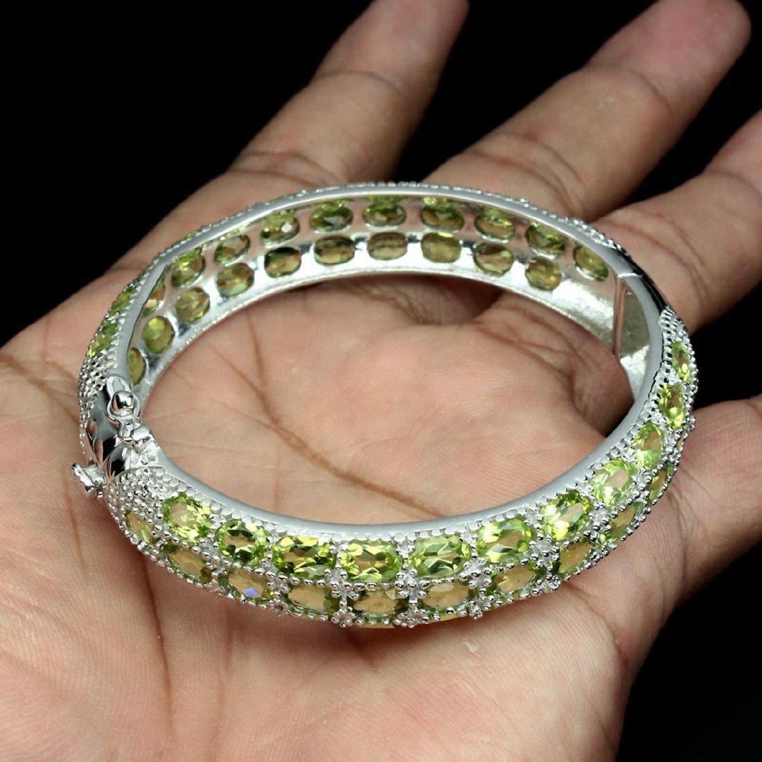Natural Green Peridot 156 Carats  Bangle - 3
