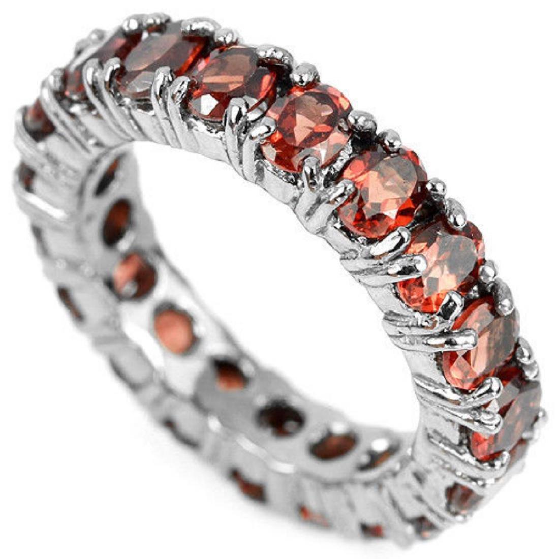 NATURAL AAA DARK ORANGE RED GARNET Ring