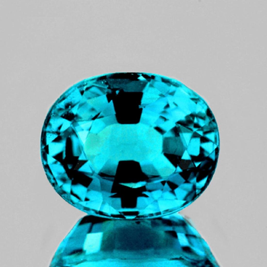 Natural Premium Electric Blue Zircon 5.02 Ct - FL