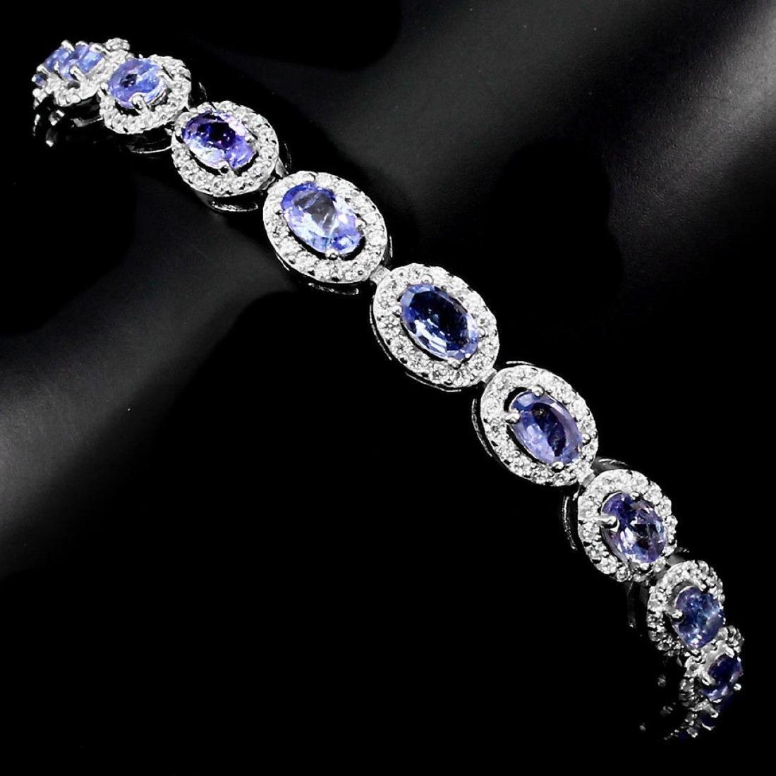 Natural Blue Violet Tanzanite 52.69 Cts Bracelet