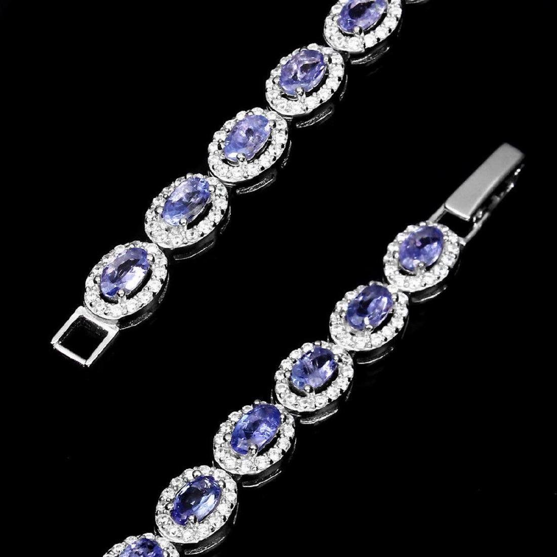 Natural Blue Violet Tanzanite 52.69 Cts Bracelet - 3
