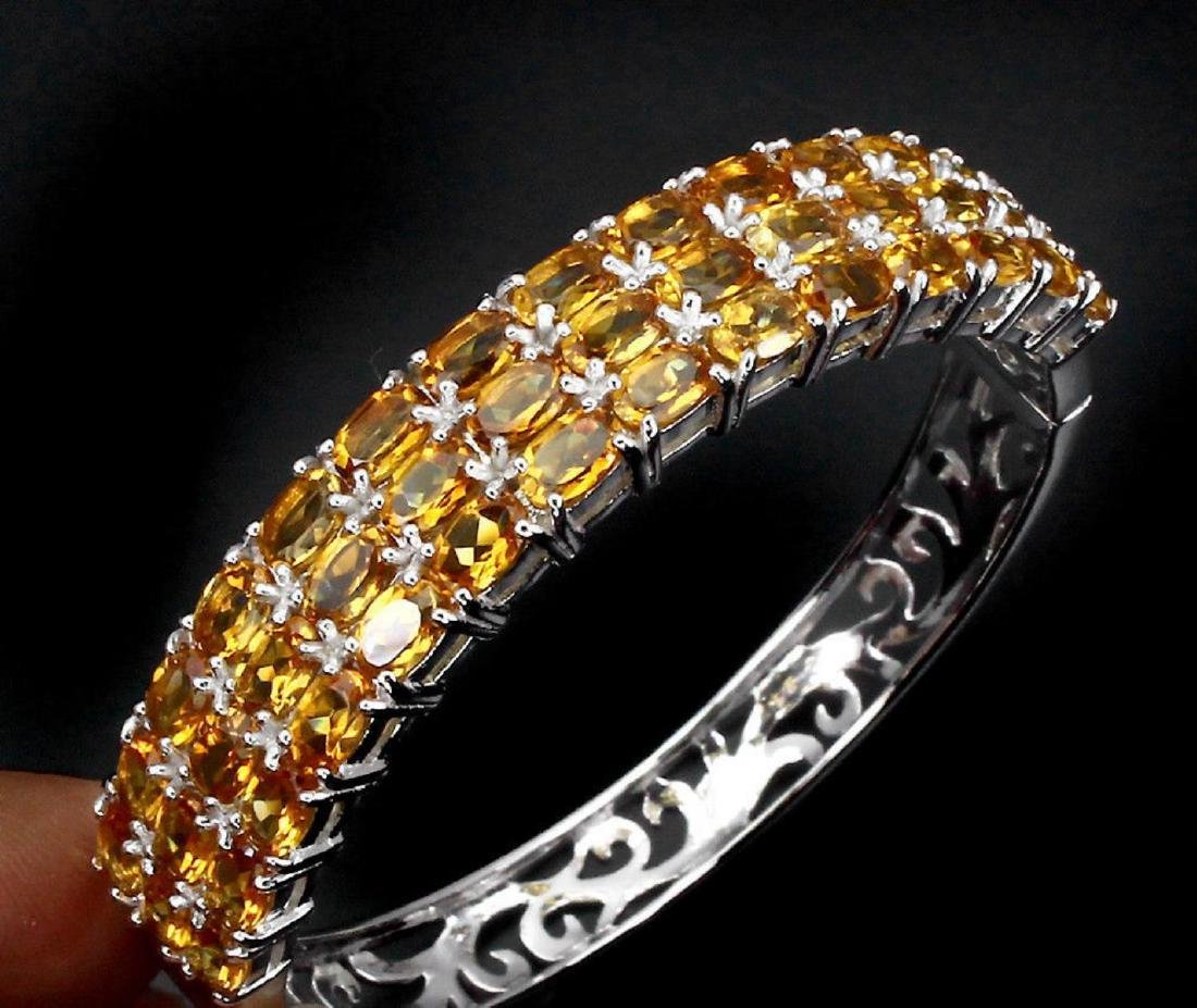 Natural Top Rich Yellow Citrine 152.66 Ct Bangle - 2