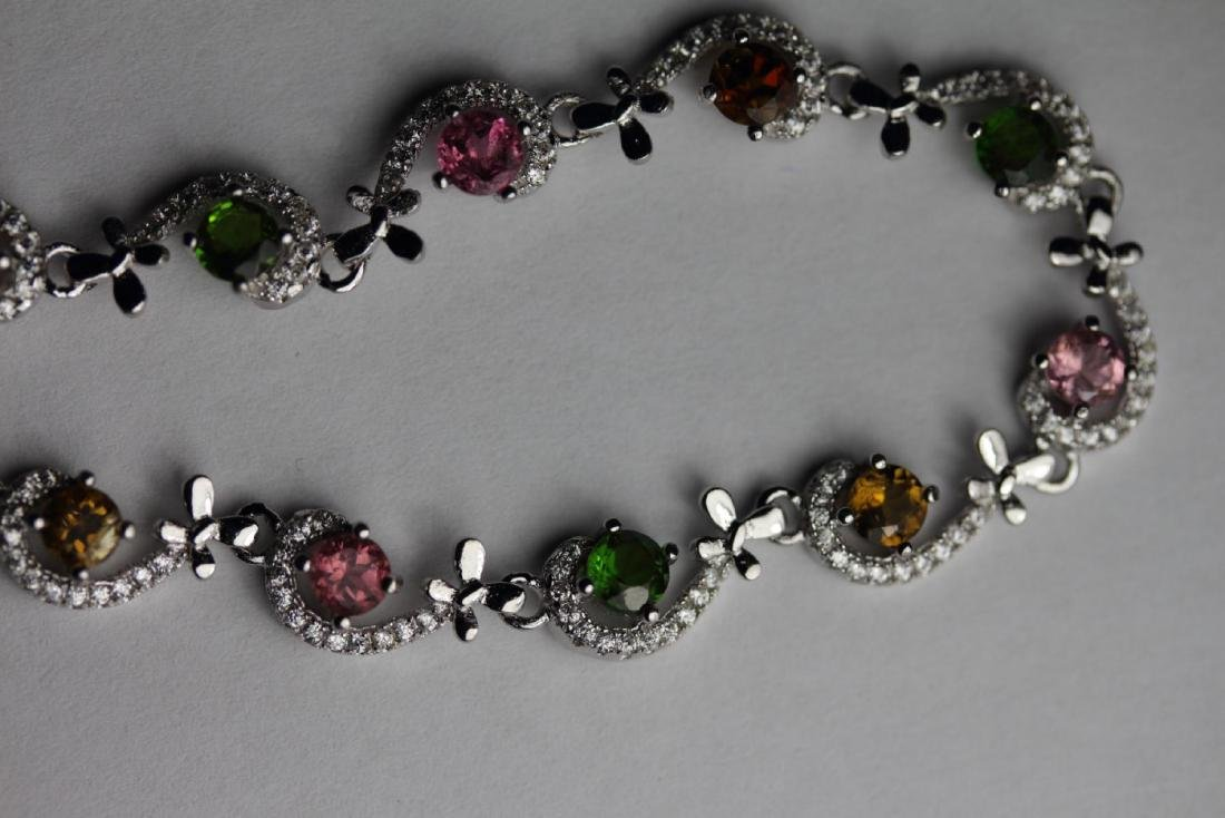 NATURAL MULTI COLOR TOURMALINE Bracelet - 2