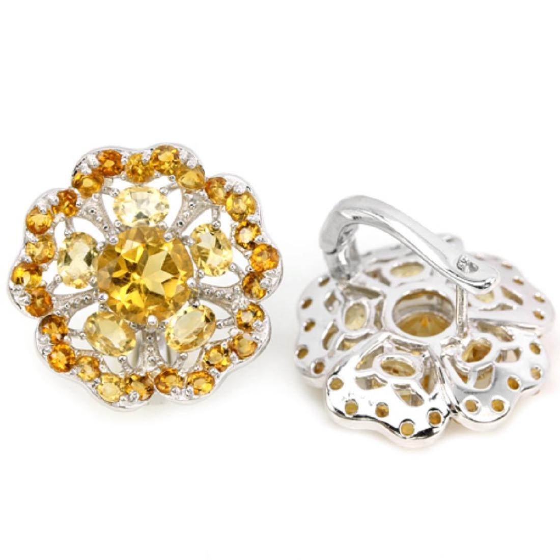 NATURAL ORANGISH YELLOW CITRINE Earrings - 3