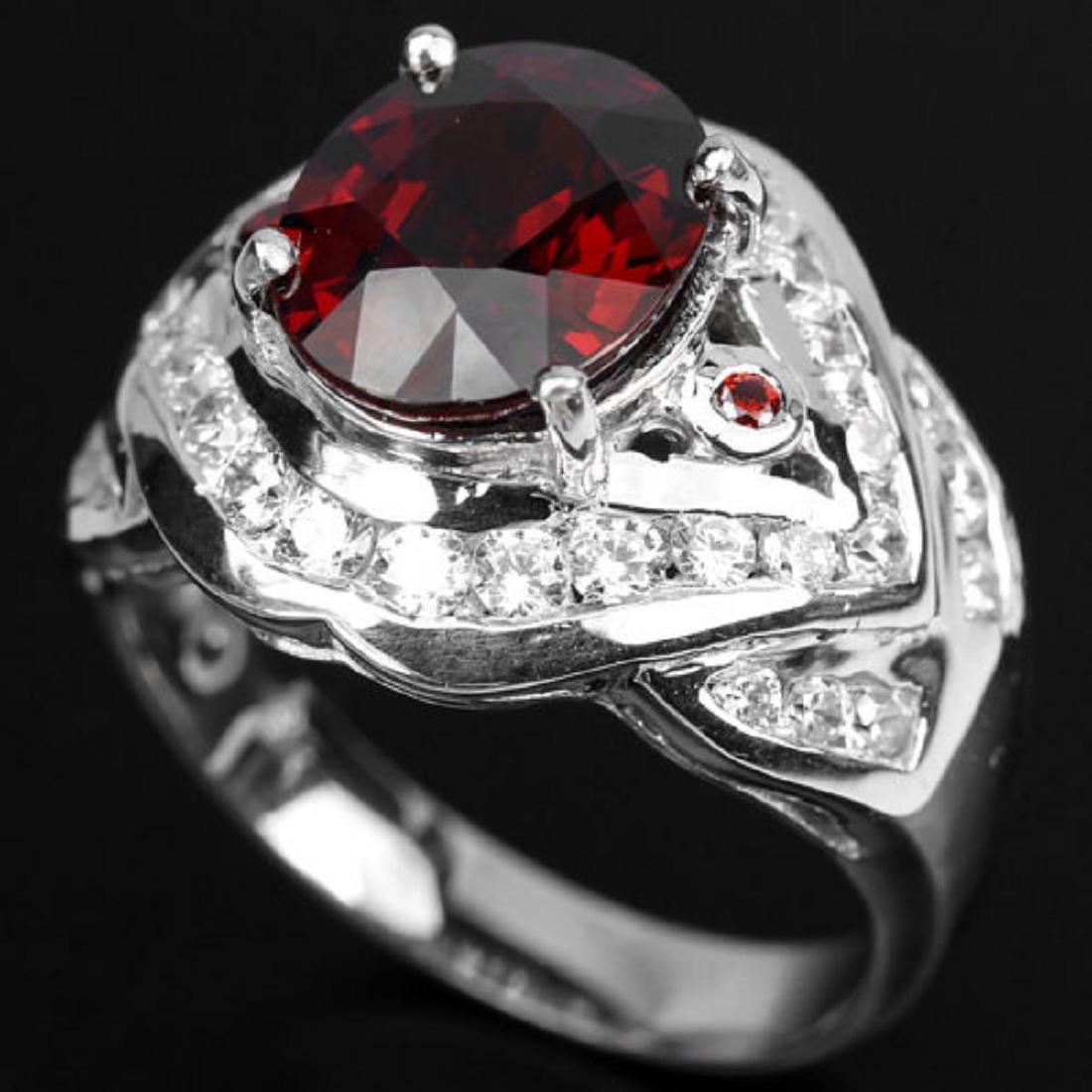 NATURAL RED SPESSARTITE GARNET Ring - 2