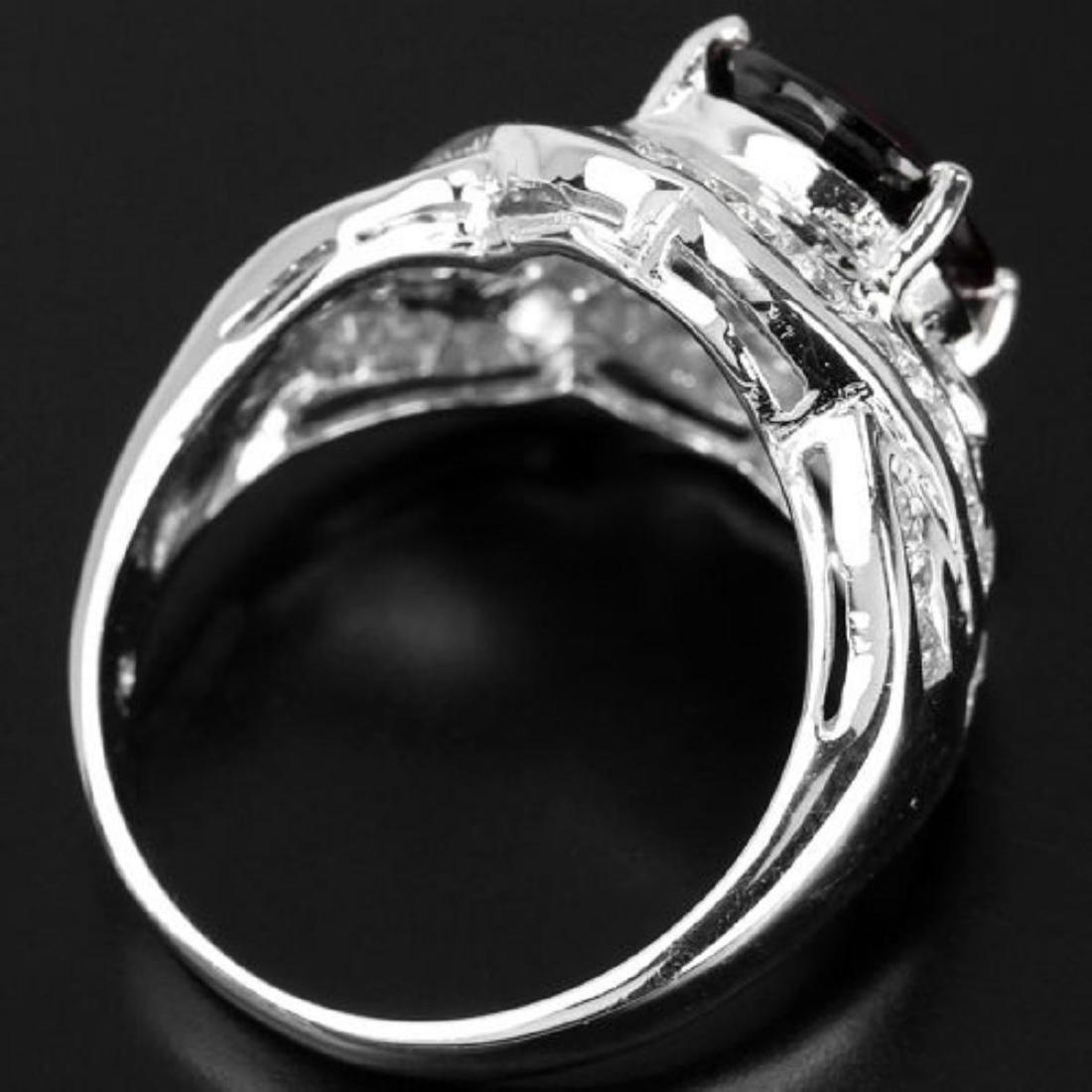 NATURAL RED SPESSARTITE GARNET Ring - 3