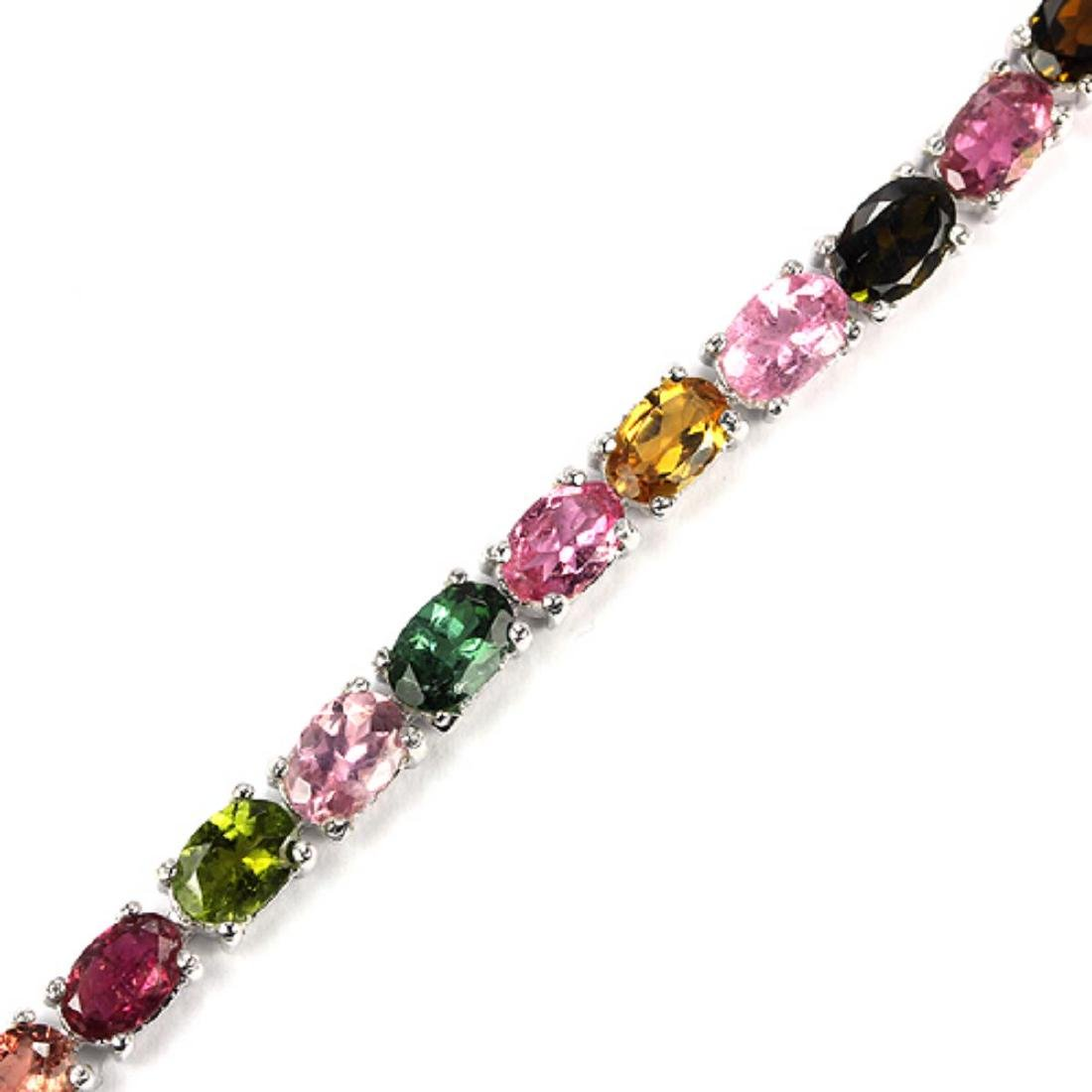 Natural Fancy Color Tourmaline Bracelet - 2