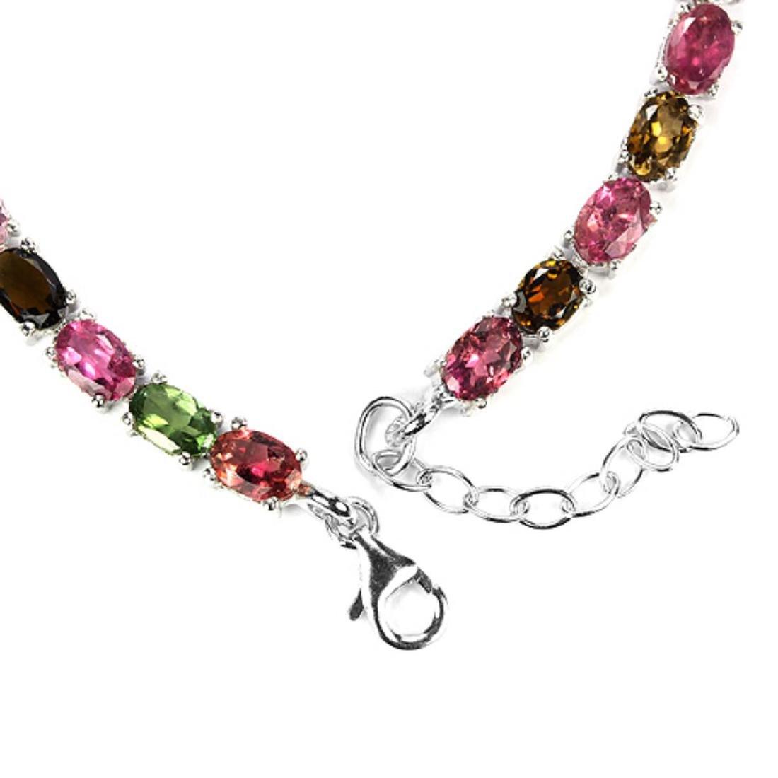 Natural Fancy Color Tourmaline Bracelet - 3