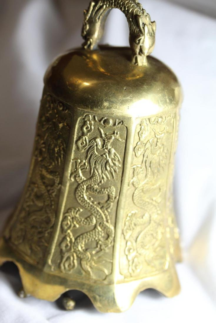 Old Chinese/Buddhist Copper/Brass Dragon Bell - 5