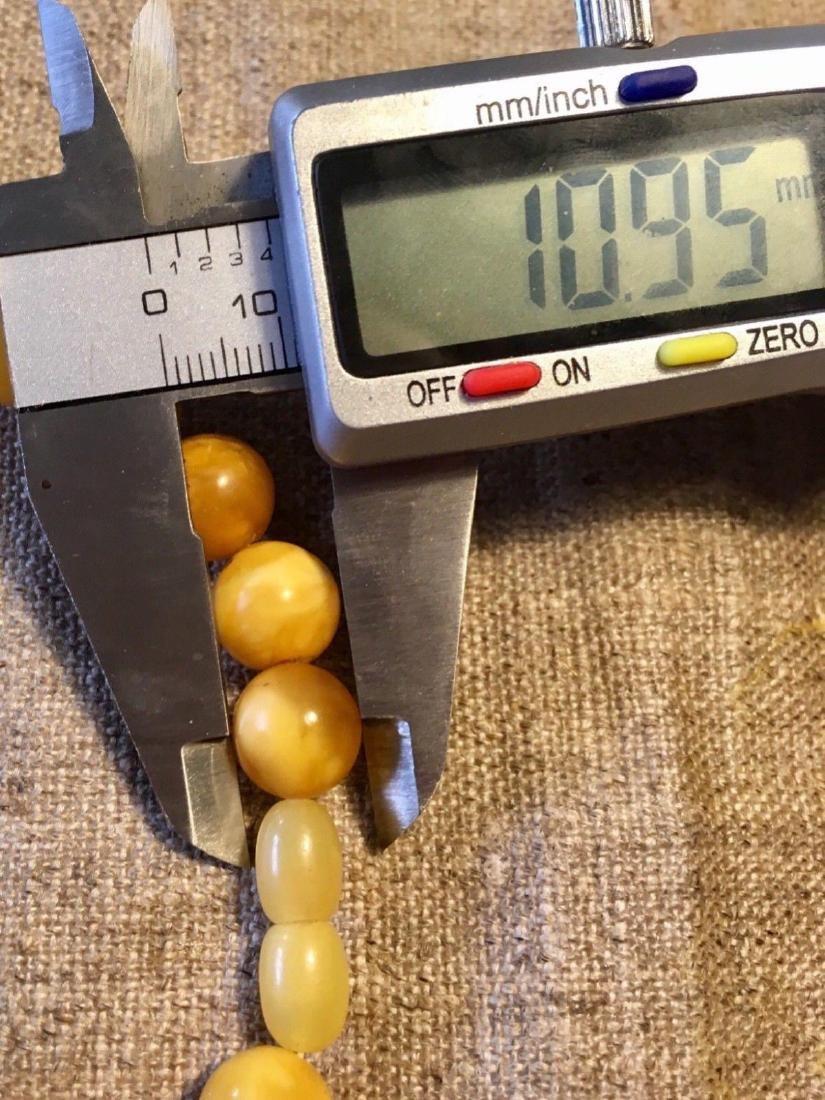 Antique Natural Amber Butterscotch Egg Yolk Necklace - 6