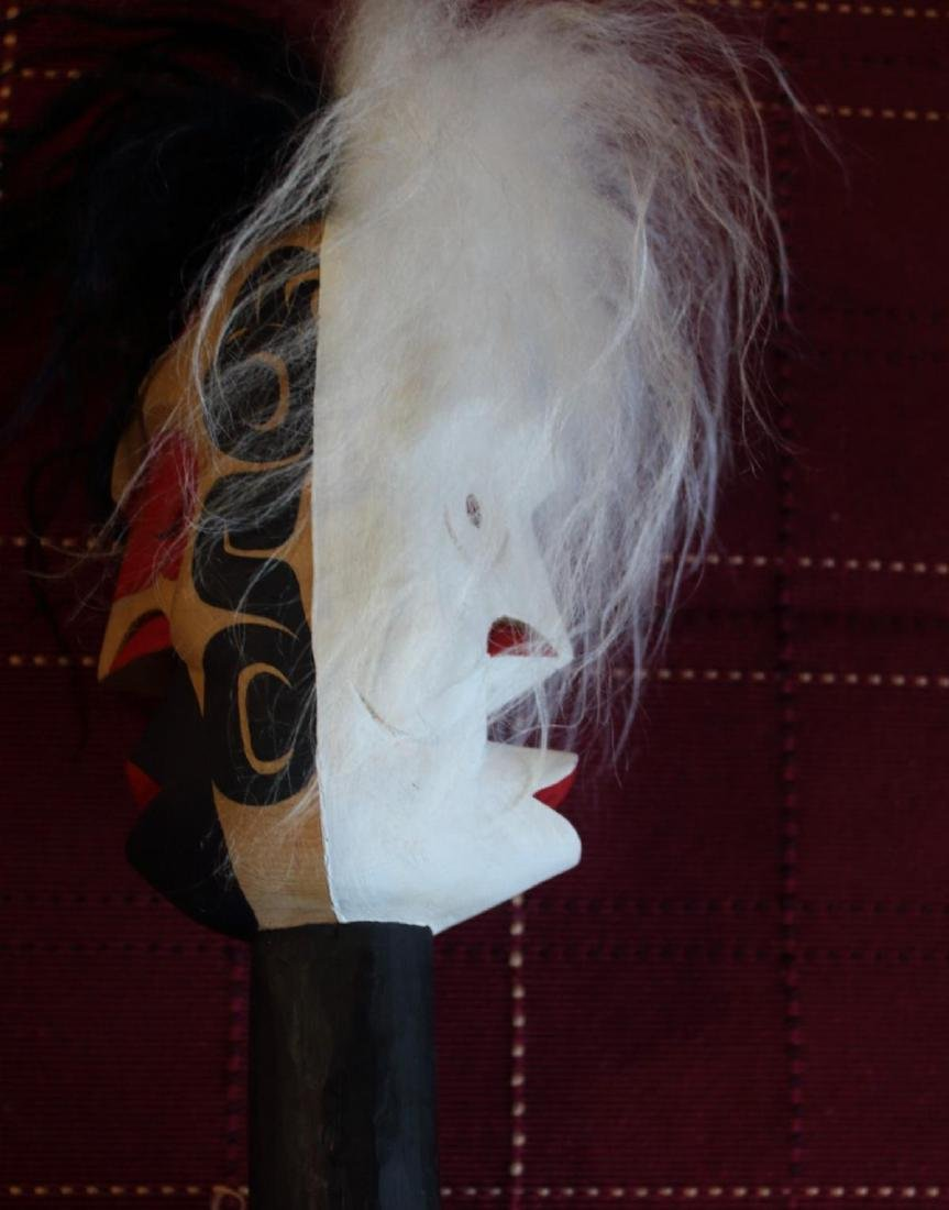 West Coast Native Whale Hunter Spirit Pook Oobs Rattle - 5