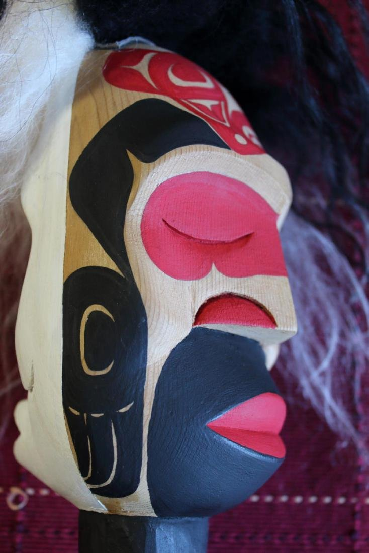 West Coast Native Whale Hunter Spirit Pook Oobs Rattle - 8
