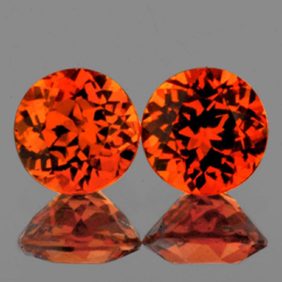 Natural Mandarin Orange Spessartite Garnet 6.00 MM -VVS
