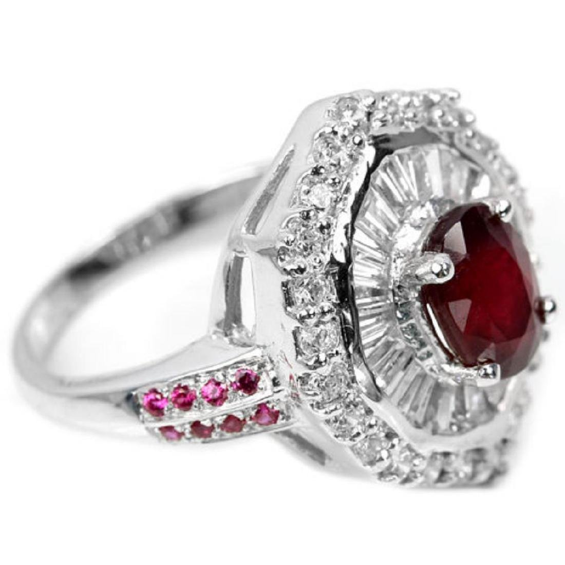 Natural Red Ruby Ring - 2