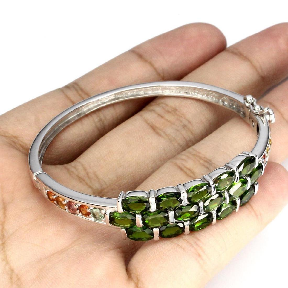 Natural Chrome Diopside Sapphire 77.70 Cts Bangle - 3