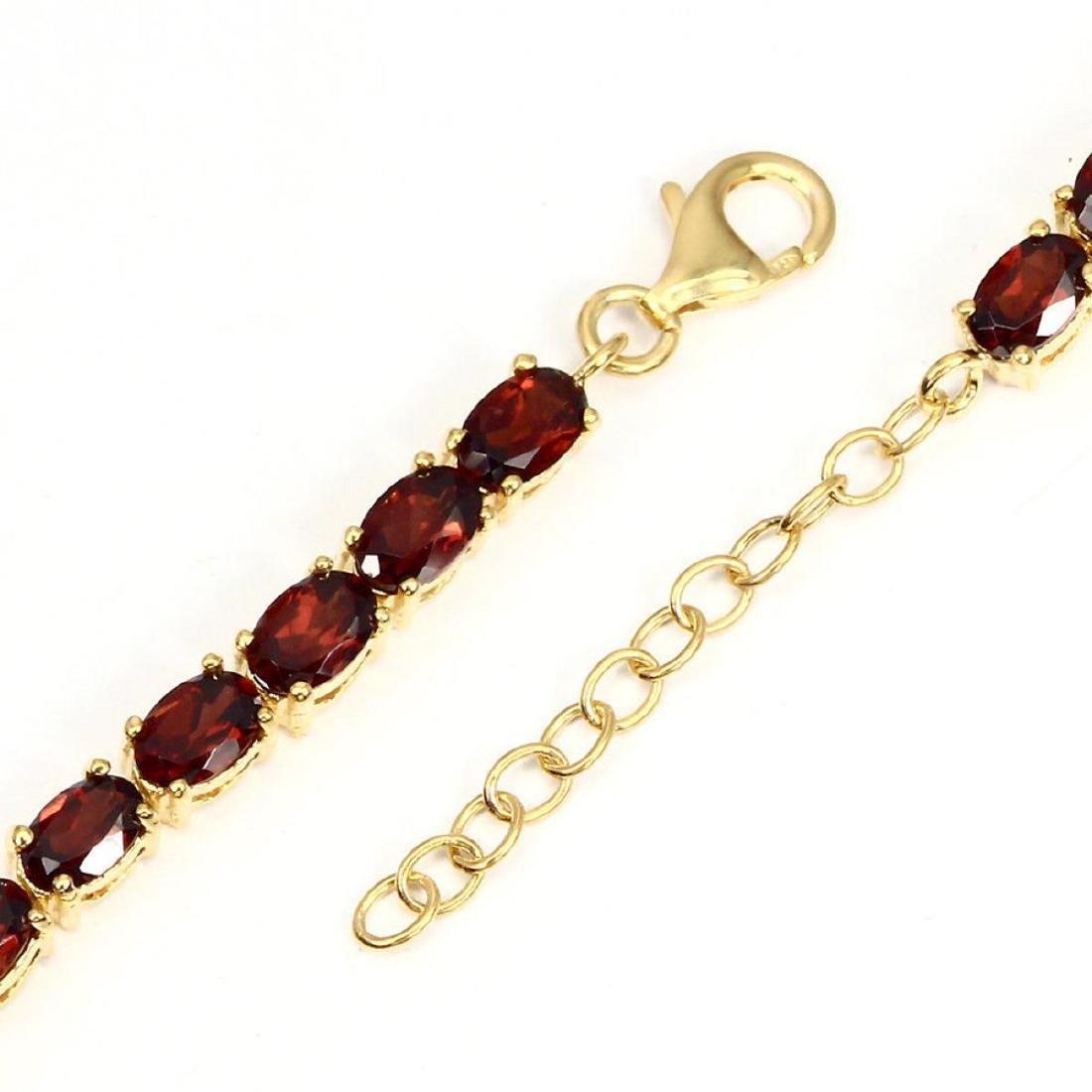 Natural Top Rich Orange Mozambique Garnet Bracelet - 3