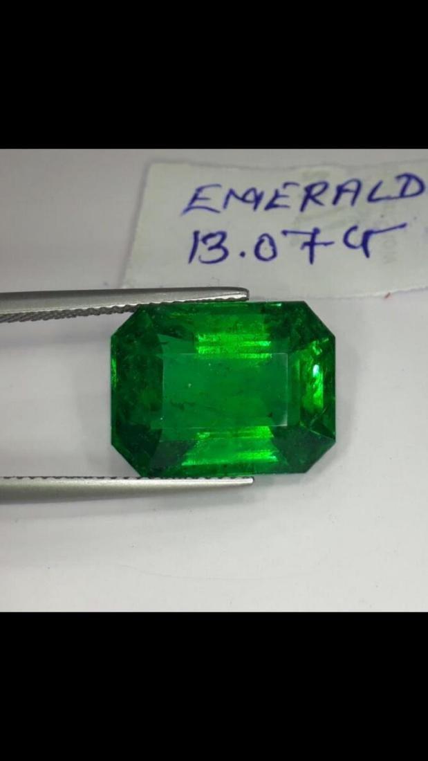 Natural Deep Forest Green Emerald 13.07 Carats