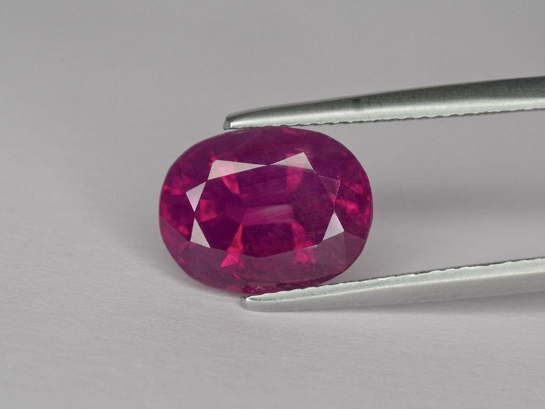 Natural Oval Ruby 3.02 Cts - Untreated - Certified