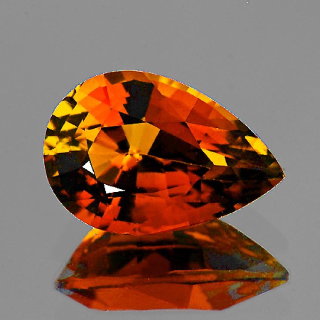 Natural AAA Vivid Orange Tourmaline 1.40 Ct - Flawless